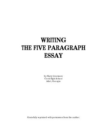 bing bang bongo five paragraph essay outline writing the 5 paragraph essay