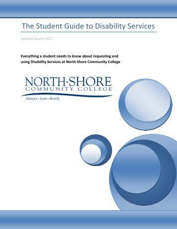 Student Guide to Disability Services - North Shore Community College