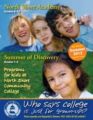 Who says college - Community Education - North Shore Community ...