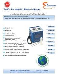 Download Brochure - E Instruments