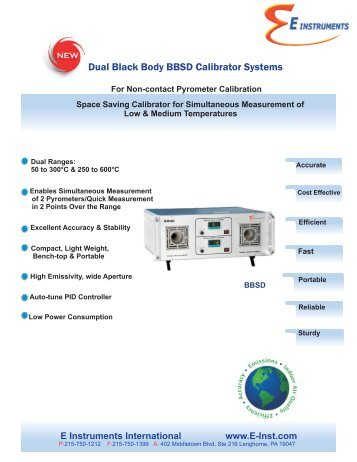 E Inst- BBSD Calibrator 72711 - E Instruments
