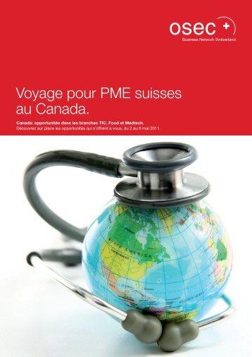 Voyage pour PME suisses au Canada. - Alp ICT