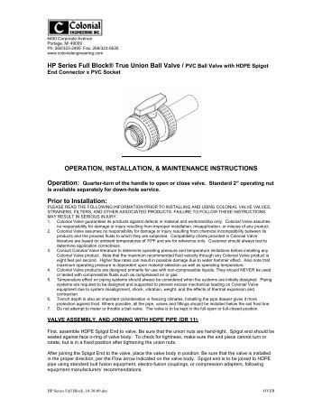 Tb Series 2 1 2 6 In True Union Ball Valve Catalog Cut
