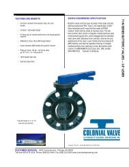 711N Commercial Butterfly Valve - Colonial Engineering
