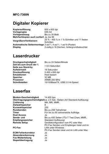 Digitaler Kopierer Laserdrucker Laserfax