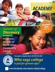 Summer of - Community Education - North Shore Community College