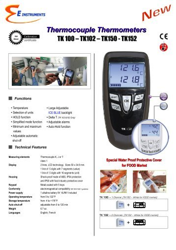 Thermocouple Thermometers - E Instruments