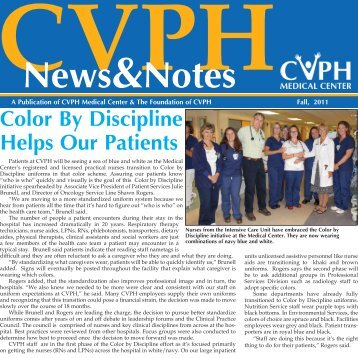 Color By Discipline Helps Our Patients - CVPH Medical Center