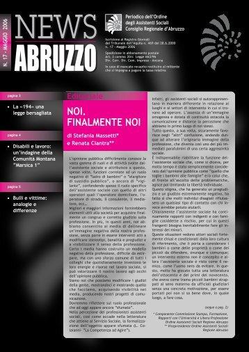 Scarica il numero 17 in formato pdf - ORASABRUZZO