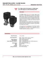 with AT or AM Actuators - Neptronic