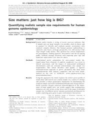 Size matters: just how big is BIG?: Quantifying realistic sample ... - P3G