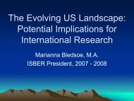 Potential Implications for International Research (Marianna ... - P3G