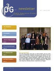 Newsletter March 2009 - P3G