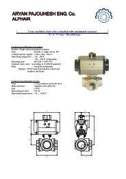 3 way stainless steel valve coupled with pneumatic actuator - Aryan ...