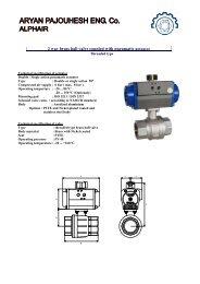 2 way brass ball valve coupled with pneumatic actuator - Aryan ...
