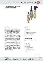 "Pressure Sensors ""CerTrans"" for OEM-applications"