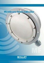 Membrane level indicator