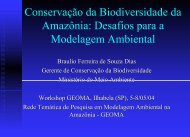 Política Nacional da Biodiversidade - Geoma