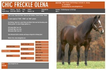 CHIC FRECKLE OLENA
