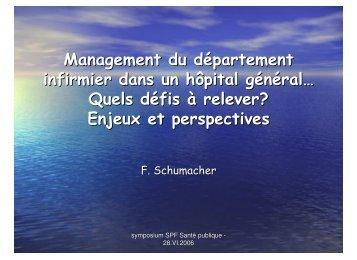 Management du département infirmier dans un hôpital général ...