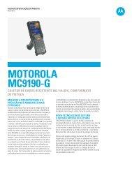 MC9190-G folha de especificações - Motorola Solutions