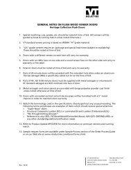 General Notes on Flush Wood Veneer Doors - VT Industries Inc