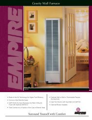 Gravity Wall Furnace - Empire Gas Space Heater