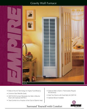 Gas Fired Vented Wall Furnace Cozy Heaters