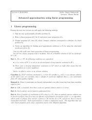 Advanced approximation using linear programming 1 Linear ...