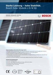 Bosch c-Si M60 - Activity Solar