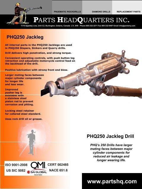 PHQ 250 Jackleg Drill - Parts HeadQuarters Inc