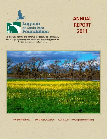 annual REpoRT 2011 - Laguna de Santa Rosa Foundation