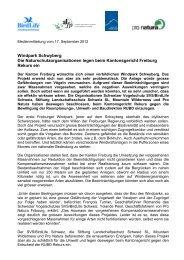 Windpark Schwyberg Die Naturschutzorganisationen ... - Pro Natura