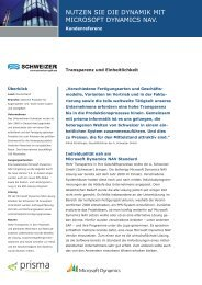 ERP-Lösung Microsoft Dynamics NAV mit PPS ... - Prisma Informatik