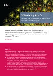 WRR Policy Brief (2015) The Public Core of the Internet