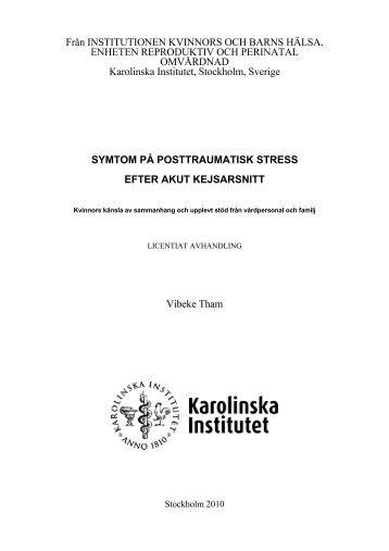 SYMTOM PÅ POSTTRAUMATISK STRESS EFTER AKUT ...