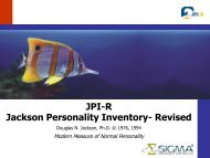 JPI-R Jackson Personality Inventory- Revised - Sigma Assessment ...
