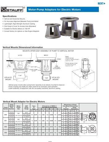 Stauff Hydraulic Accessories—Motor-Pump Adaptors for Electric ...