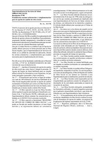 Nº 37/98-SSSalud - Superintendencia de Servicios de Salud