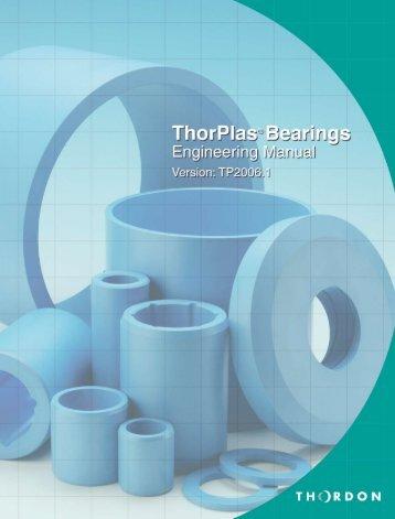 ThorPlas Engineering Manual - Thordon Bearings