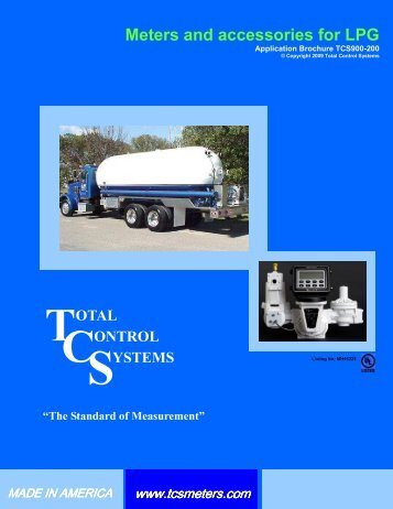 Liquefied Petroleum Gas - Total Control Systems