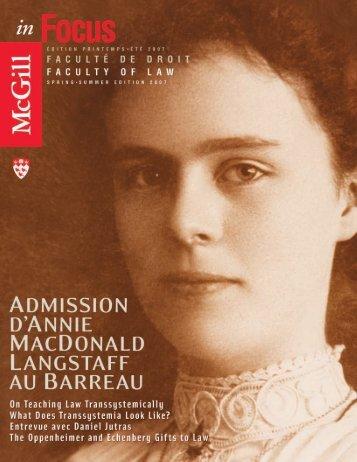 credits - McGill Publications - Université McGill