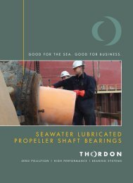 SEAWATER LUBRICATED PROPELLER ... - Thordon Bearings