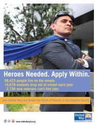 2013 Campaign Flyer - United Way of Greater Los Angeles