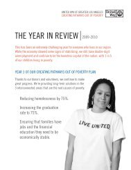 the year in review 2009-2010 - United Way of Greater Los Angeles