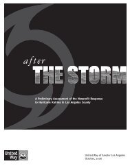After the Storm - United Way of Greater Los Angeles