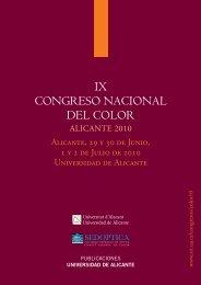 IX CONGRESO NACIONAL DEL COLOR - Universidade do Minho