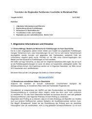 Newsletter 12/12 - Geschichte