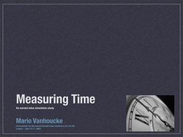 Mario Vanhoucke - Earned Schedule