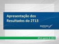 Apresentação dos Resultados - BM&FBOVESPA - Relações com ...
